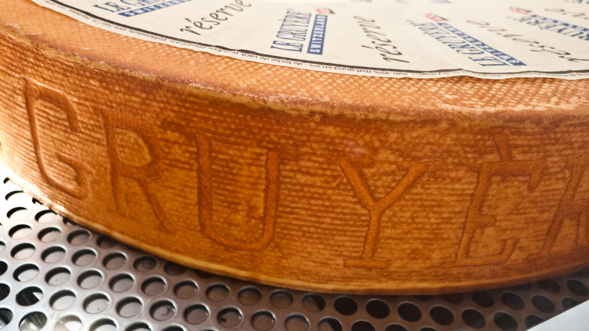 A Huge piece of Gruyere Cheese