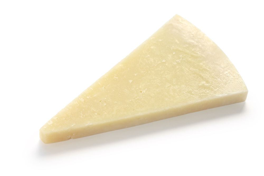 a Sliced Romano cheese