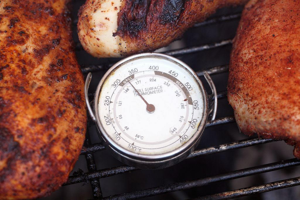 grilled chicken on the furnace bar