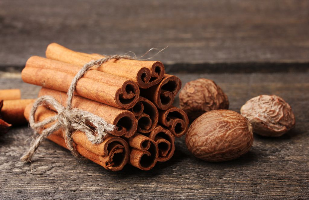 a bunch of cinnamon and nutmeg