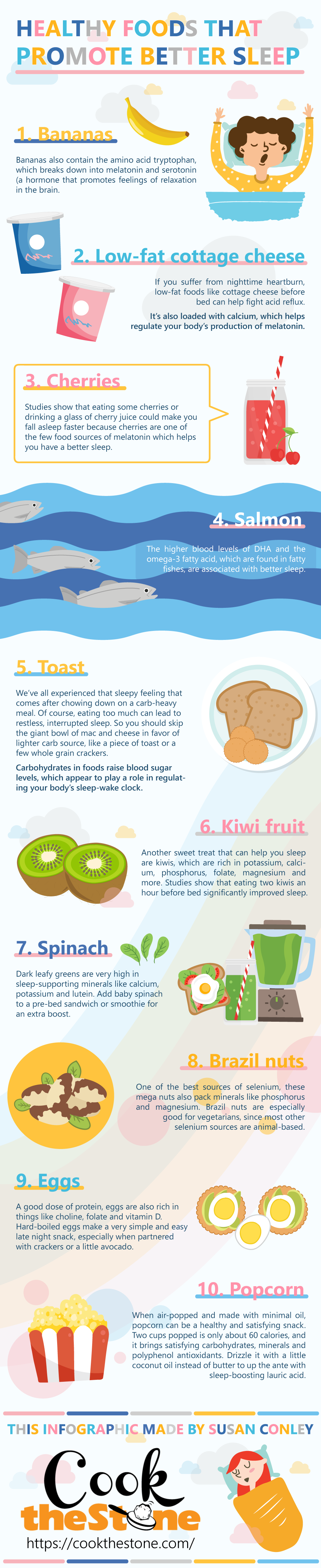 Healthy Foods That Promote Better Sleep Infographic