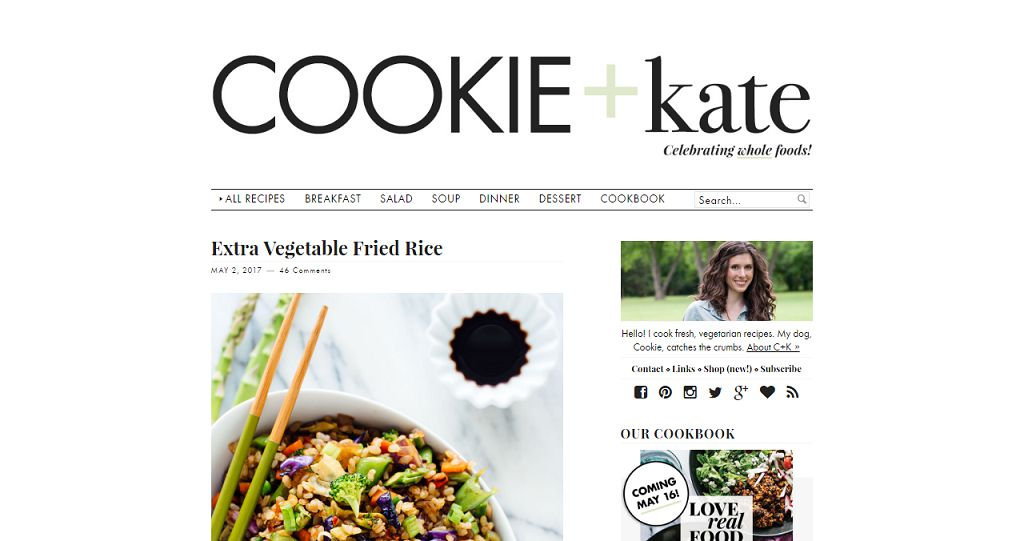 Top 50 food blogs you should be reading aug 2018 kathryne or kate named her blog after her sidekick cookie if you visit her blog you will see how she divided all the categories forumfinder Images