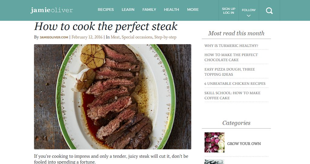 Jamie Oliver's Perfect Steak​