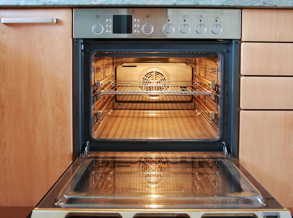 space inside the oven