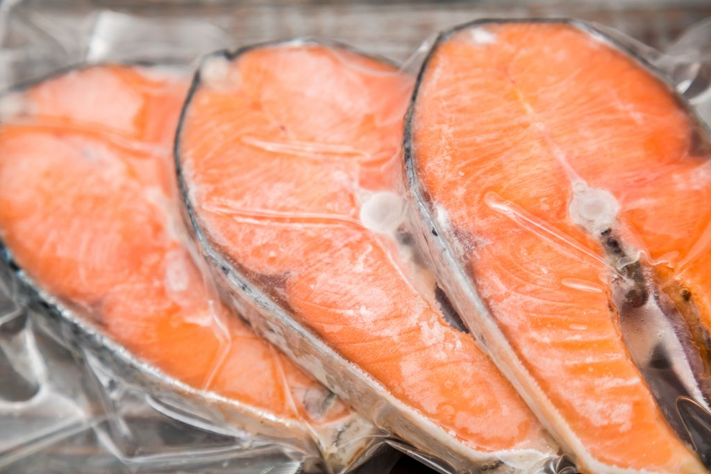 salmon in the fridge