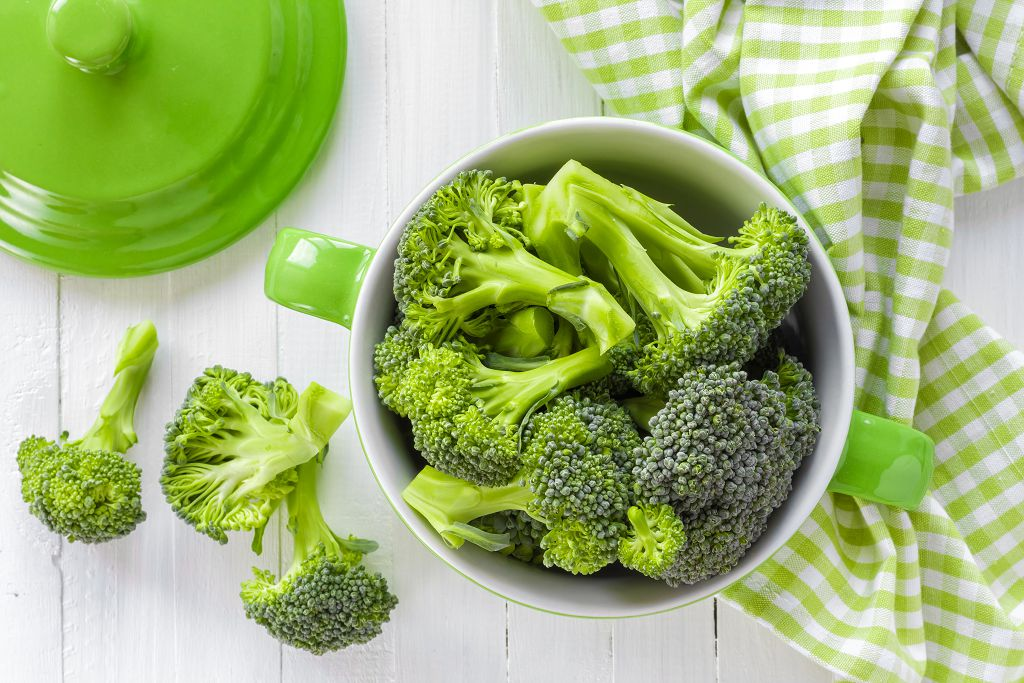 Broccoli and a pot of Broccoli