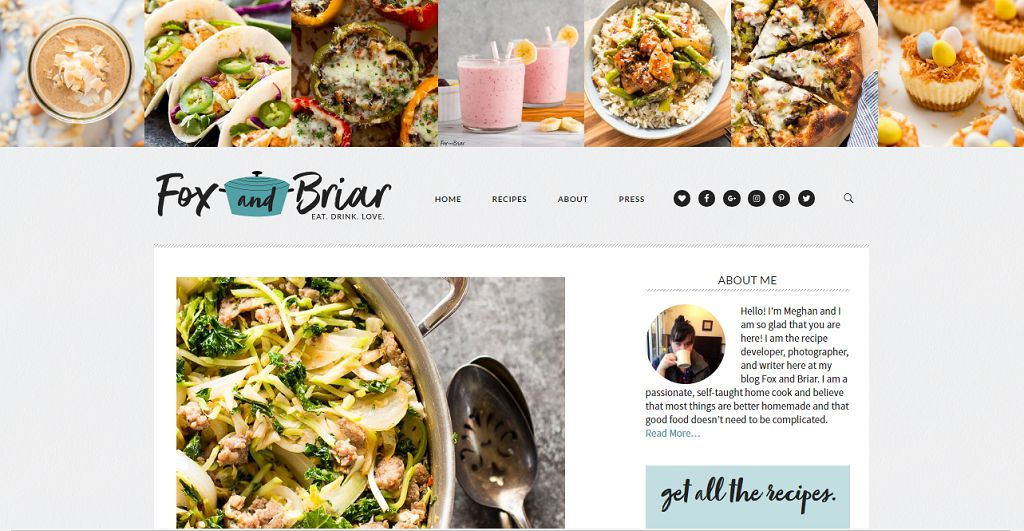 Top 50 food blogs you should be reading jun 2018 fox and briar is a bright food blog which is light and airy with remarkable photos as well as the recipes for sure i agree with meghan that everything forumfinder Choice Image