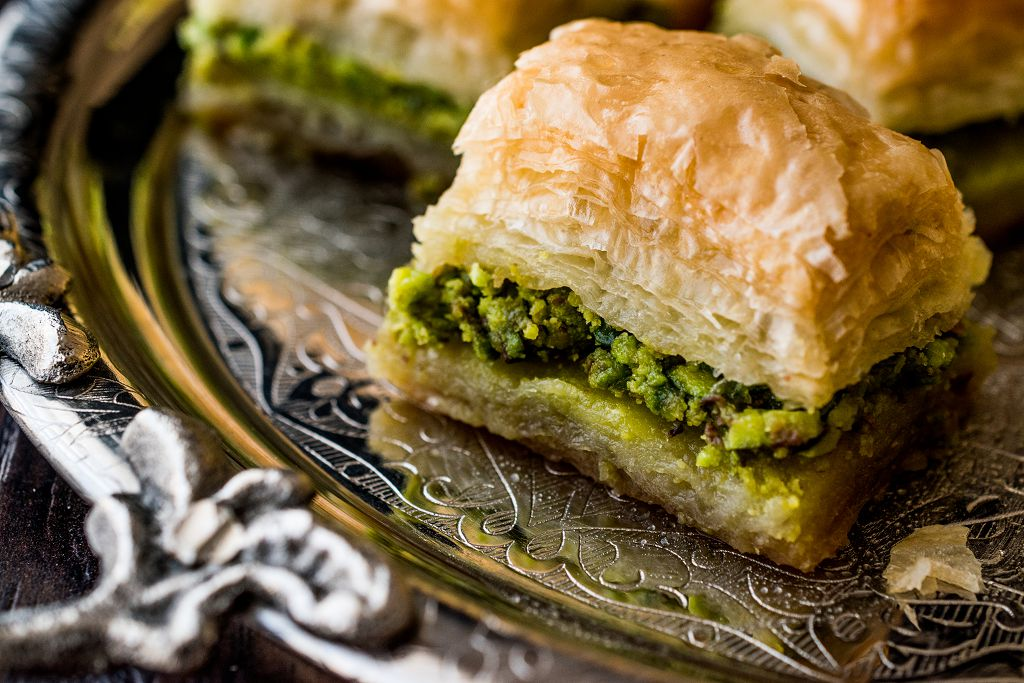 Baklava on the plate