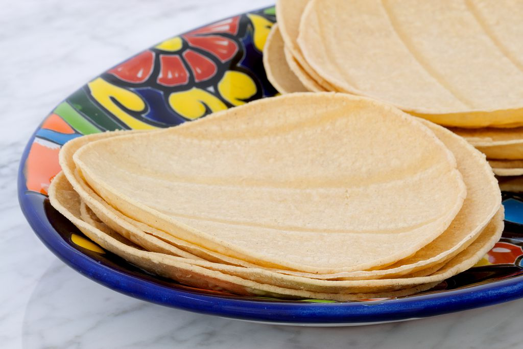 Tortillas on the plate