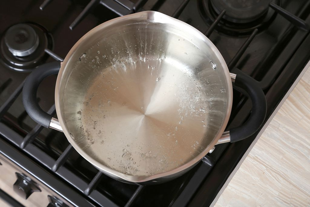 Boil a saucepan of salted water