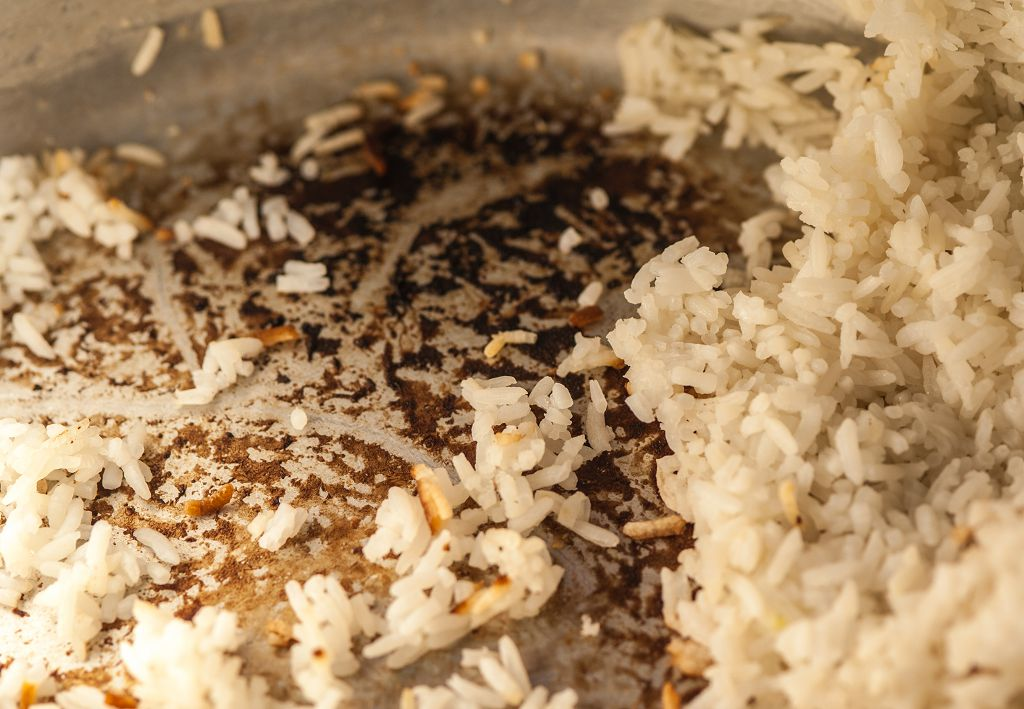 The Interior in the rice cooker