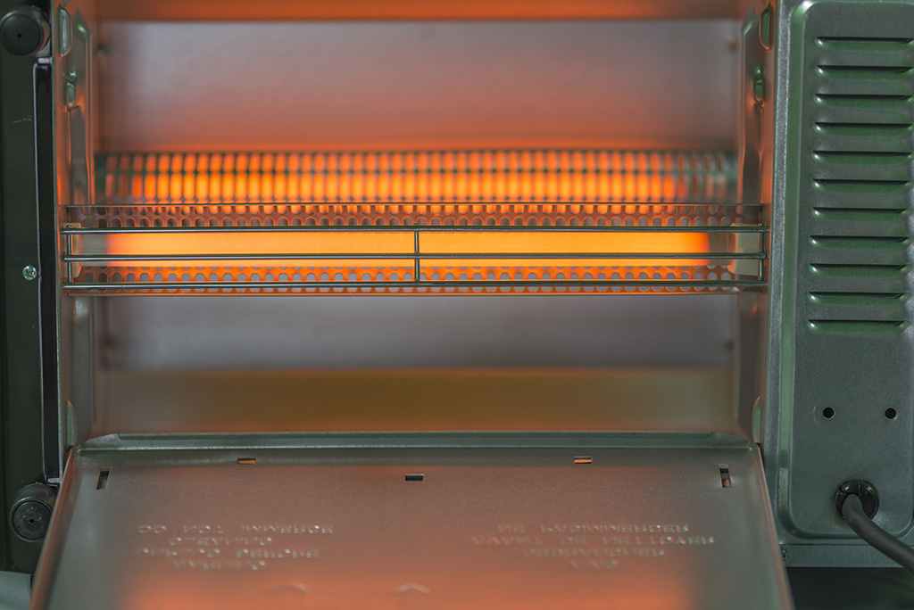 the heating elements in the toaster oven