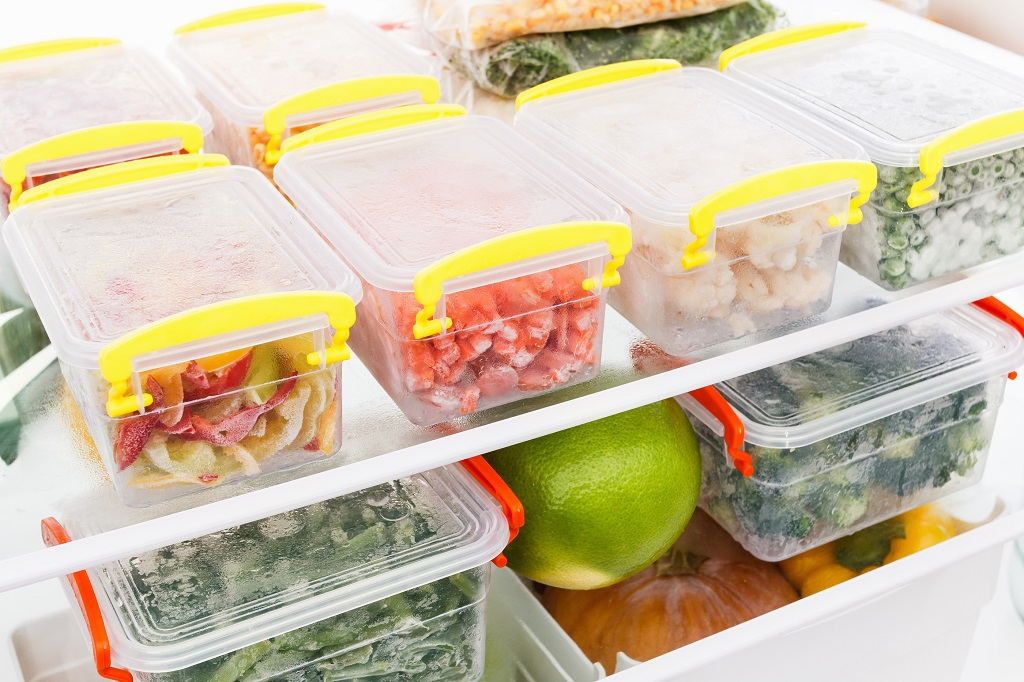 Fresh Food In Container In The Fridge