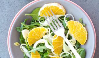 Simple Arugula, Fennel And Leek Salad With Citrus #Sundaysupper