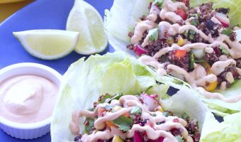 Red Quinoa South Western Lettuce Wraps With Chipotle Sour Cream