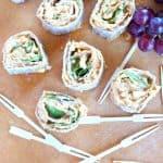 Buffalo Chickpea Spinach Pinwheels #Sundaysupper