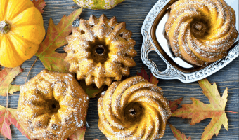 Healthy Cinnamon Apple Pumpkin Cakes #Pumpkinweek