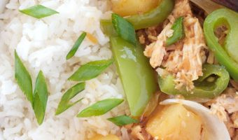 Pressure Cooker Chicken Teriyaki With Pineapple