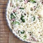 Broccoli, Ham And Fontina Quiche With A 5 Minute Crust