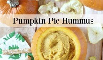 Pumpkin Pie Hummus With Cinnamon Apple Chips #Twospoons