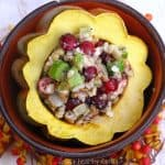 Seasonal Stuffed Acorn Squash With Cranberries And Pecans