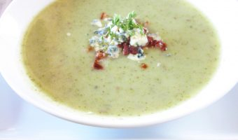 Potato-Blu Cheese And Broccoli Soup {Low-Fat}