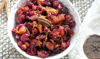 Spiced Cranberry Chutney With Apricots, Cherries And Pecans