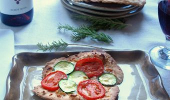 Rosemary, Garlic And Parmesan Rustic Flatbread Pizzas