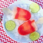 Strawberry Lime Aide Margarita Swirl Popsicles #Nationalmargaritaday