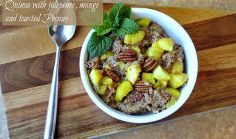 Sweet Ginger Peach Tea Quinoa With Jalepeno, Peaches And Pecans #Reciperedux