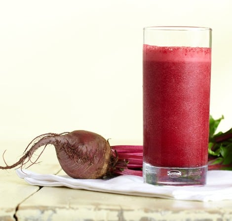Kid Friendly Beet, Strawberry, and Cranberry Smoothie