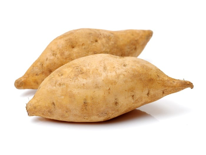 White sweet potatoes