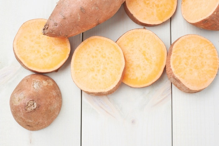 Nutritions of white sweet potatos