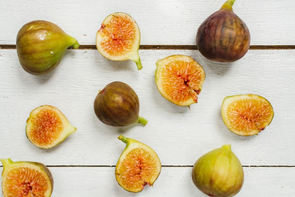 Slices of Figs and Figs on the table