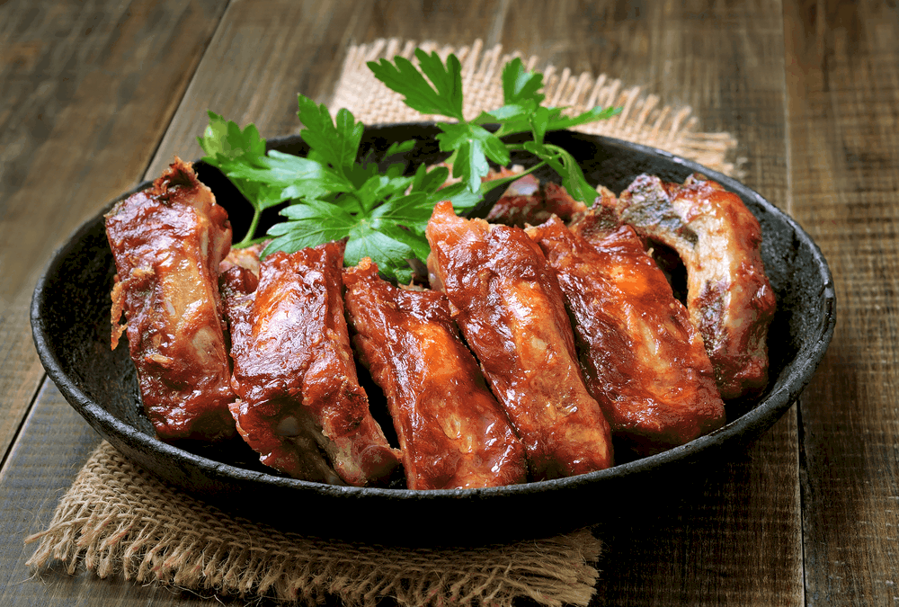 Reheat Ribs Using Frying Pan