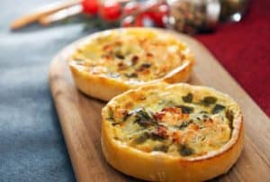 best way to reheat quiche