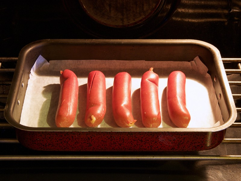 Hot Dogs in Toaster Oven